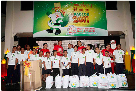 167 abandoned babies, neglected youth and abused girls from Bacolod receive early Christmas gifts from PAGCOR