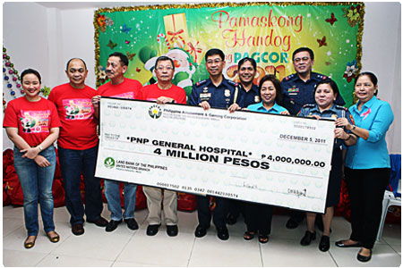 PNP General Hospital gets P4-M financial assistance from PAGCOR