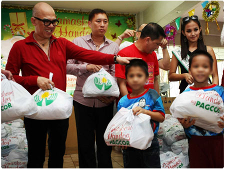 Manila Boys Town gets Christmas gifts from PAGCOR