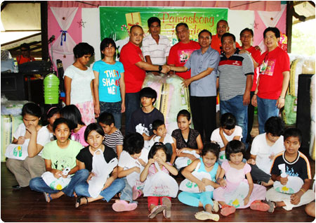 PAGCOR brings yuletide joy to blind youths in Davao