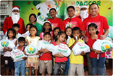 PAGCOR gives early Christmas Gift to 220 indigent youth and children of Unang Lingap Philippines