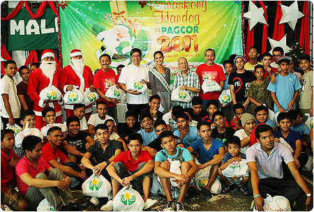 PAGCOR conducts gift-giving event at the Pangarap Shelter for street children in Pasay