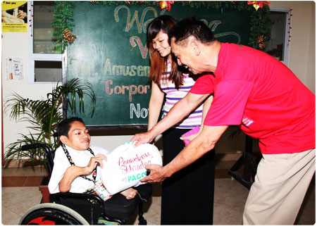Pamaskong Handog ng PAGCOR 2011 reaches out to 180 Crippled Kids
