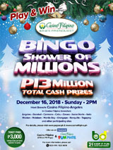 PAGCOR Shower of Millions Bingo