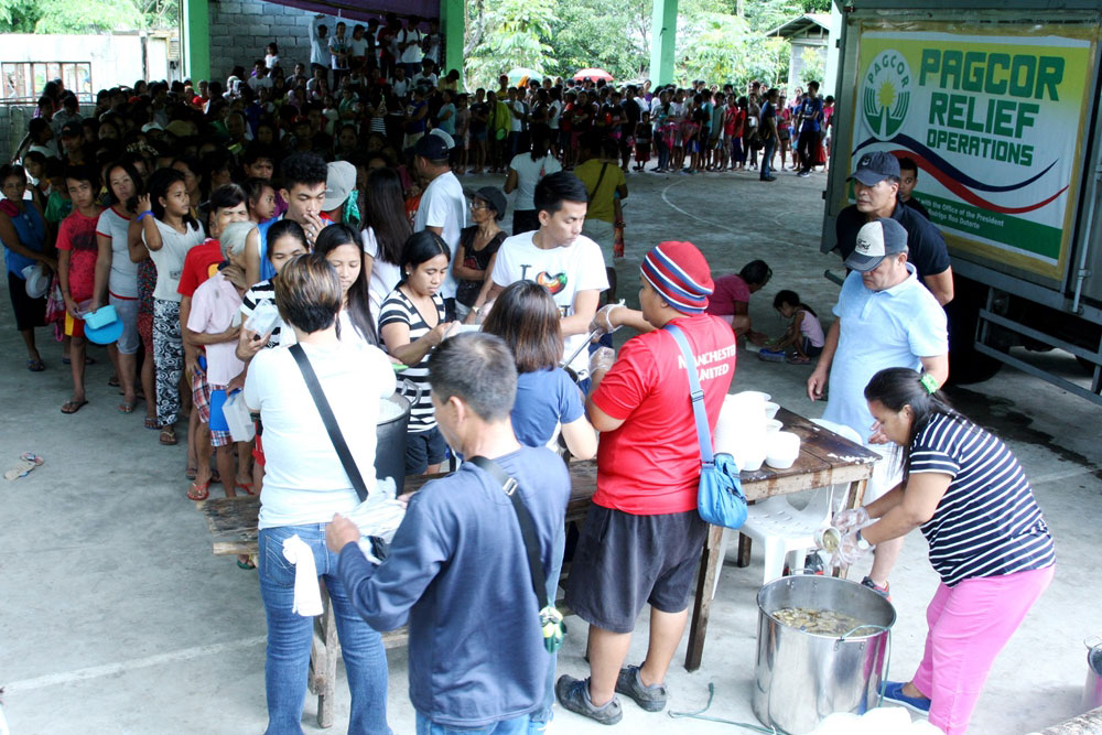 Over 50,000 evacuees benefit from PAGCOR's relief operations in Albay