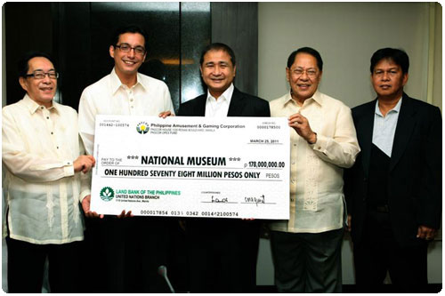 PAGCOR, Sen. Angara and  National Museum of the Philippines