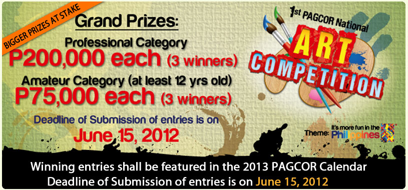 PAGCOR 1st National Art Competition 2012