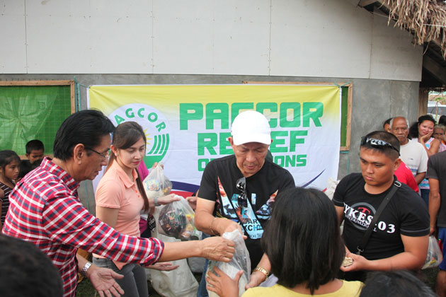 PAGCOR brings relief to Typhoon Nina-devastated areas
