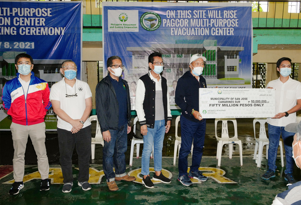 PAGCOR builds more evacuation centers in Bicol
