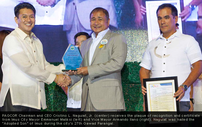 PAGCOR Chief hailed as