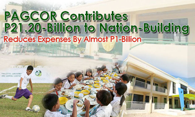 PAGCOR contributes P21.20-B to nation-building, reduces expenses by almost a billion in 2013