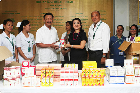 PAGCOR donates P3.41-M worth of medicines,  relief goods to government hospitals and flood victims