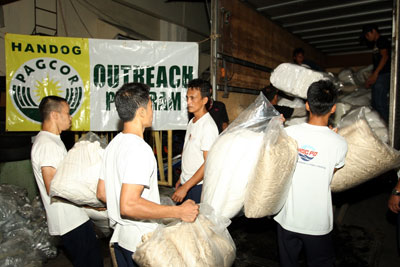 PAGCOR employees cancel Christmas party, donate cash and relief goods to typhoon victims