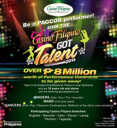 PAGCOR launches nationwide search for Casino Filipino Got Talent 2016