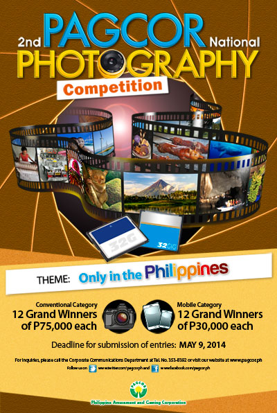 PAGCOR now accepts entries to its 2nd National Photography Competition