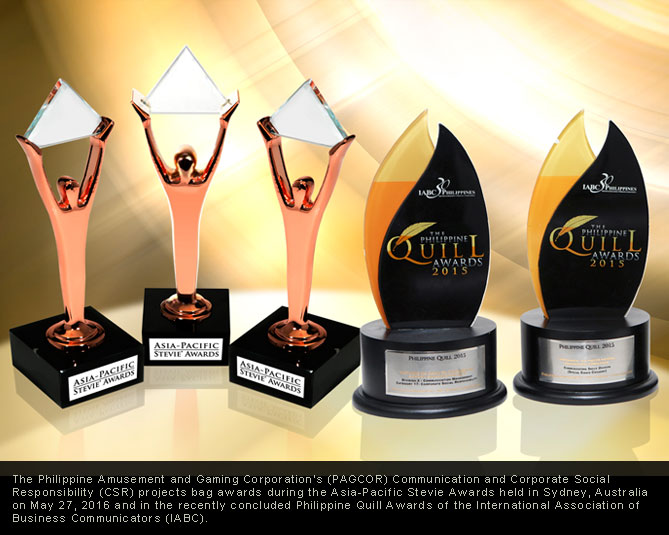 PAGCOR projects bag Philippine Quill, Asia-Pacific Stevie Awards