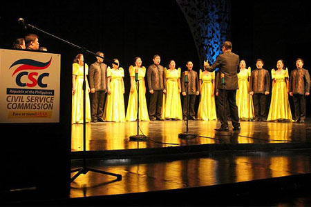 PAGCOR Voice Symphony wins grand prize in 2012 Civil Service Commission's Choral Competition