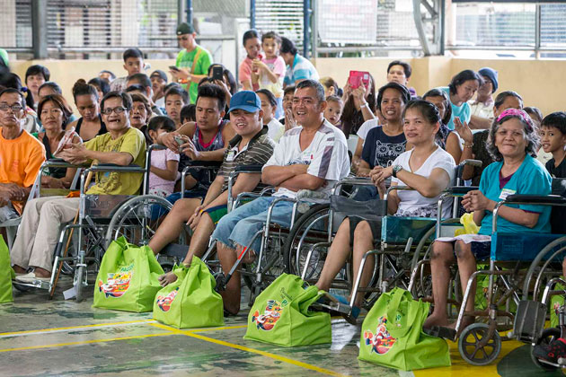 PWDs receive early Christmas treat from PAGCOR