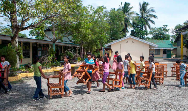 """""""Pinoy Bayanihan"""" delivers over 53,000 armchairs to public schools nationwide"""