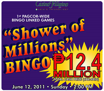 PAGCOR's Shower of Millions Bingo